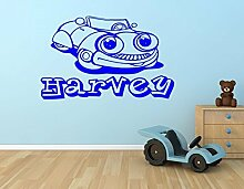 Kinder Auto Vinyl Wand Kunst-Aufkleber-Name