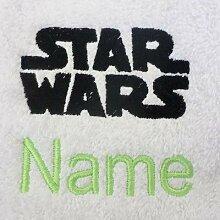 Kinder-Bademantel mit Kapuze, mit Star Wars Logo