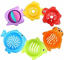 Kinder Badewannenspielzeug Set - Abfliessen Becher
