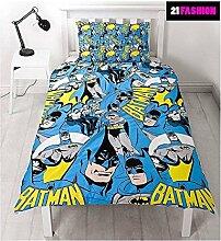 Kinder Batman bedruckt wendbar Rotary Single