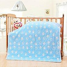 Kinder Baumwolldecke/Handtuch/ babyverdickt und kühlen im Sommer/Babydecke/ Baumwolltücher/NAP-Decke-M 90x110cm(35x43inch)