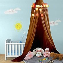 Kinder Bett Baldachin Runde Kuppel, Baumwoll