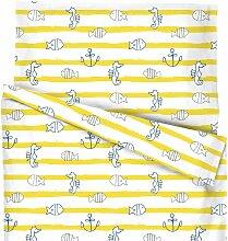 Kinder-Bettwäsche Meeresbrise, 40x60 +100x135 cm,