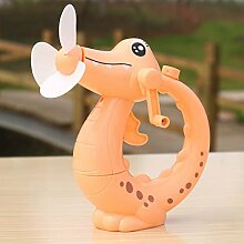 Kinder bis Ihr Handheld, kleinen Ventilator auf dem Handheld krokodil Befeuchtung spray max Wind Power tragbarer Ventilator Orange