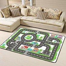 Kinder Brettspiel City Road Tapete oder Teppich