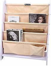 Kinder Bücherregal Hängefächerregal Kinderregal Büchergestell mit 4 Ablagefächern für Kinderzimmer Schule Spielzimmer