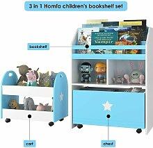 Kinder Bücherregal Kinderregal mit 3