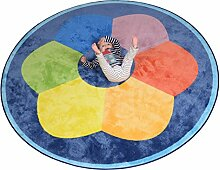 Kinder Carpets REDCAGA06200200B01 Luxus Jumbo Teppich Color Wheel, Nylon, mehrfarbig, 200 x 200 x 1 cm