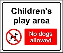 Kinder, die Play Bereich No Dogs Allowed Safety Sign Schild aus Aluminium–3mm 300mm x 200mm x 200mm