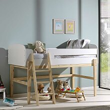 Kinder Einzelbett in Weiß 90x200 cm