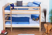 Kinder Etagenbett - Buche Massivholz 90x200 cm,