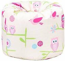 Kinder Eulen Bettwäsche und Möbel Sammlung Kinderzimmer Kindergarten Spielzimmer - Bean Bag