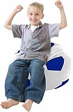 Kinder Fußball Sitzsack Kunstleder - Königsblau
