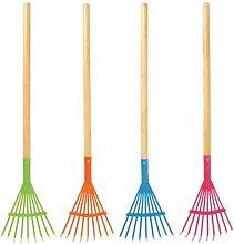 Kinder Garten-Gerät Rechen, farbig sortiert
