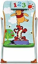Kinder Gartenstuhl - Kinder Strandstuhl - Kinder Camping Stuhl - Kinder Gartenmöbel - Disney Gartenmöbel mit Modellauswahl (Strandstuhl, Winnie Pooh)