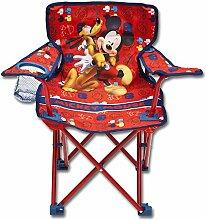 Kinder Gartenstuhl - Kinder Strandstuhl - Kinder Camping Stuhl - Kinder Gartenmöbel - Disney Gartenmöbel mit Modellauswahl (Gartenstuhl, Mickey)