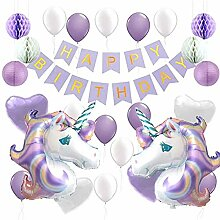 Kinder Geburtstag Girlande Banner Ballons