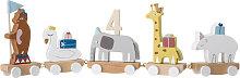 Kinder-Geburtstagszug Tierparade Zahlen bunt
