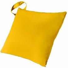 Kinder Gelb Wasserabweisende Outdoor 45,7cm (46cm) Hohlfaser Scatter Garten Kissen mit Griff