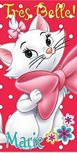 Kinder Geschenkidee - Disney Aristocats - Marie: Duschtuch/ Badetuch/ Strandtuch 100 % Baumwolle - 70 x 140 cm - Ro
