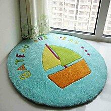 Kinder handgefertigte Acryl Runde niedlichen Teppich
