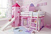 Kinder-Hochbett 70WWFA mit Feen-Spielzelt,