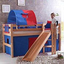 Kinder-Hochbett Merlin aus Massivholz Pharao24