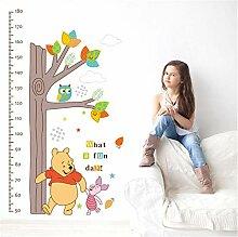 Kinder Höhe Messung Wachstum Diagramm Baum Winnie