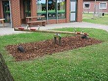 Kinder- Holzwippe Garten-Holzwippe 4 Kinder