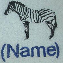 Kinder Kapuzen Bademantel mit A Zebra Logo und