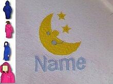 Kinder Kapuzen Bademantel mit Ein Mond & Sterne