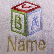 Kinder Kapuzen Bademantel mit einem ABC Cube Logo