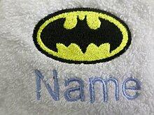 Kinder Kapuzen Bademantel mit einem Batman Logo