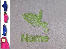 Kinder Kapuzen Bademantel mit einem Jet Ski Logo