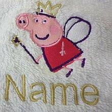 Kinder Kapuzen Bademantel mit einem Peppa Pig Logo