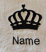 Kinder Kapuzen Bademantel mit Queen Krone Logo und