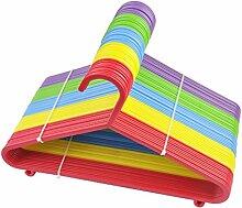 Kinder Kids Multi farbigem Kunststoff Kleiderbügel Baby Kind 50/80/100, QTY:100