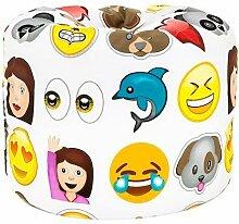 Kinder Kinderzimmer Kindergarten Spielzimmer Bettwäsche und Möbel Sammlung - Monsters, Dschungel und Emoji - Emoji, Sitzsack