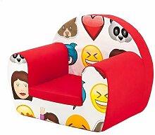 Kinder Kinderzimmer Kindergarten Spielzimmer Bettwäsche und Möbel Sammlung - Monsters, Dschungel und Emoji - Emoji, Schaumstoff Stuhl