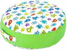 Kinder Kinderzimmer Kindergarten Spielzimmer Bettwäsche und Möbel Sammlung - Monsters, Dschungel und Emoji - Monsters, Rundes Bodensitzkissen