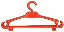 Kinder Kleiderbügel 100er-Set Kinderschrank Baby Kinderkleidebügel Kunststoff (rot)