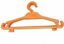 Kinder Kleiderbügel 100er-Set Kinderschrank Baby Kinderkleidebügel Kunststoff (orange)