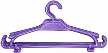 Kinder Kleiderbügel 10er-Set Kinderschrank Baby Kinderkleidebügel Kunststoff (violett)