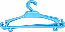 Kinder Kleiderbügel 10er-Set Kinderschrank Baby Kinderkleidebügel Kunststoff (hellblau)