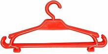 Kinder Kleiderbügel 10er-Set Kinderschrank Baby Kinderkleidebügel Kunststoff (rot)