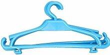 Kinder Kleiderbügel 25er-Set Kinderschrank Baby Kinderkleidebügel Kunststoff (hellblau)