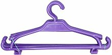 Kinder Kleiderbügel 50er-Set Kinderschrank Baby Kinderkleidebügel Kunststoff (violett)