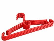 Kinder Kleiderbügel Kunststoff 150 Stück Kinderkleiderbügel Rot NEU