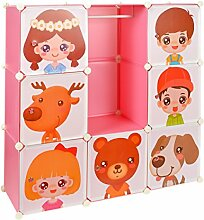 Kinder Kleiderschrank Garderoben Flur Schrank Badschrank Kinderschrank Pink