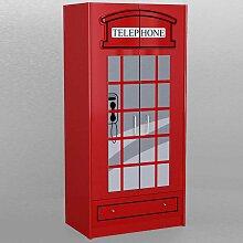 Kinder-Kleiderschrank im Telefonzellen Design Rot